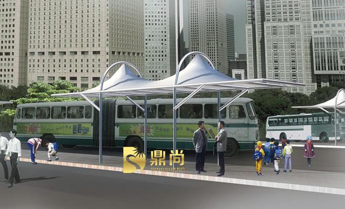 公交車站臺遮陽棚效果圖-13
