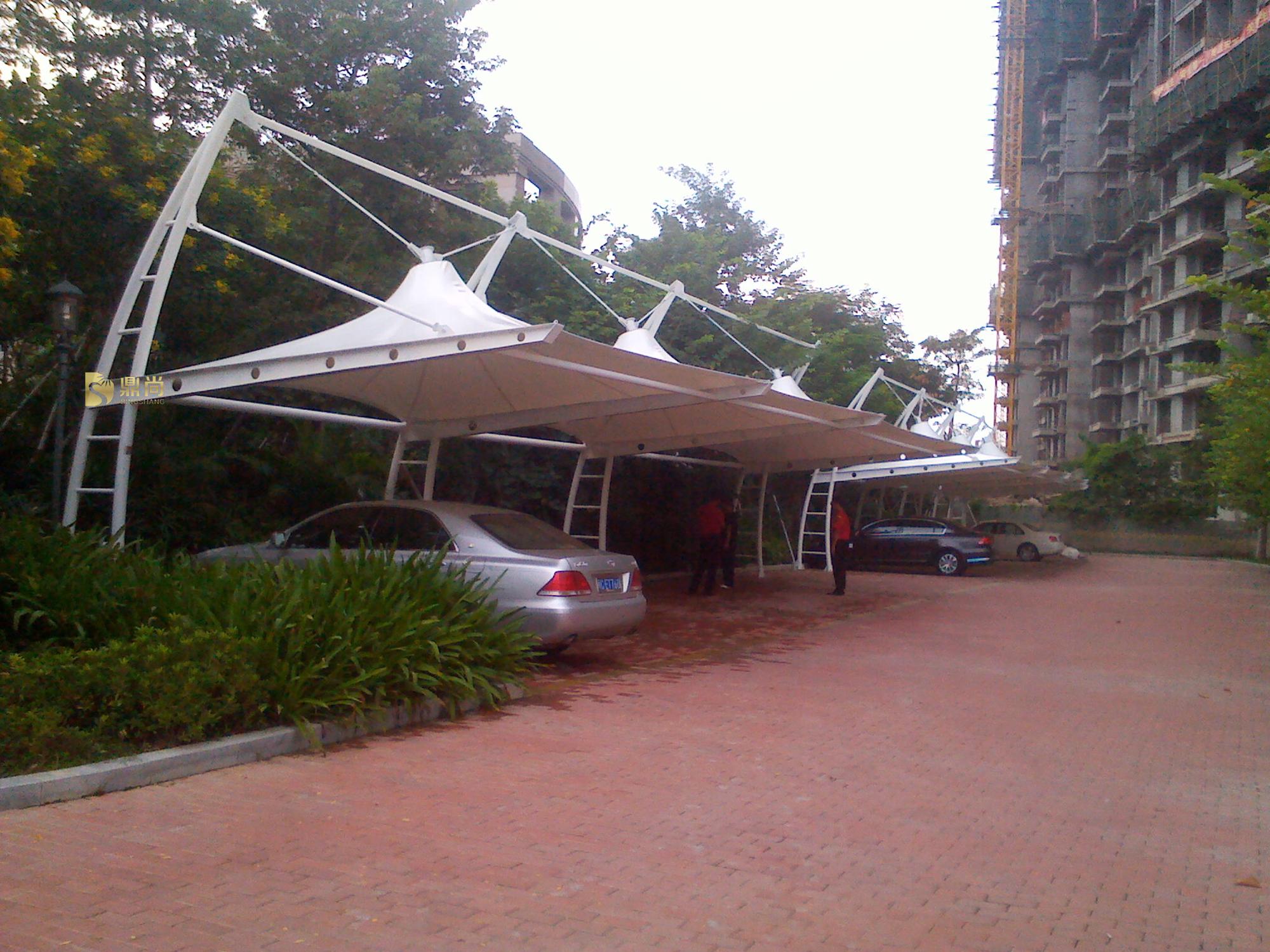 泉州南益置业鲤景湾小区--膜结构车棚