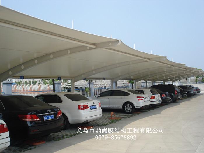 拉杆式膜结构车棚价格