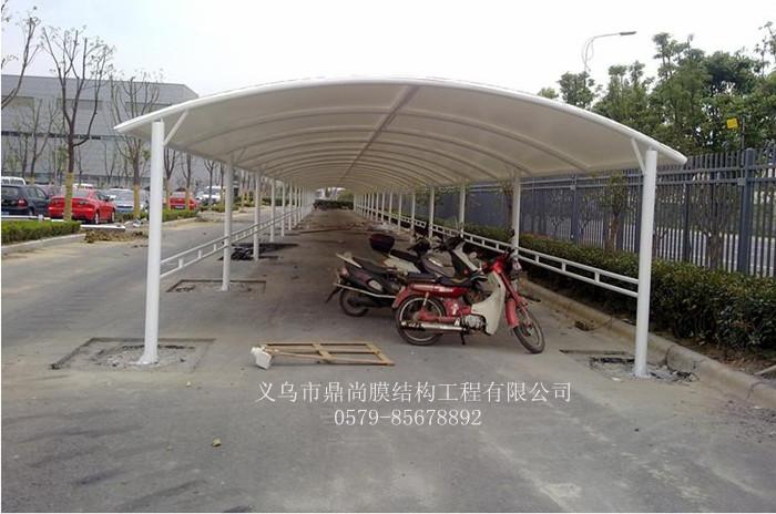 膜结构自行车车棚方案